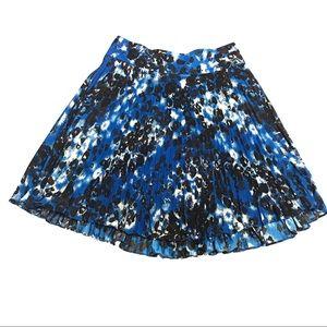 ANN TAYLOR Blue Cheetah Print A Line Skirt